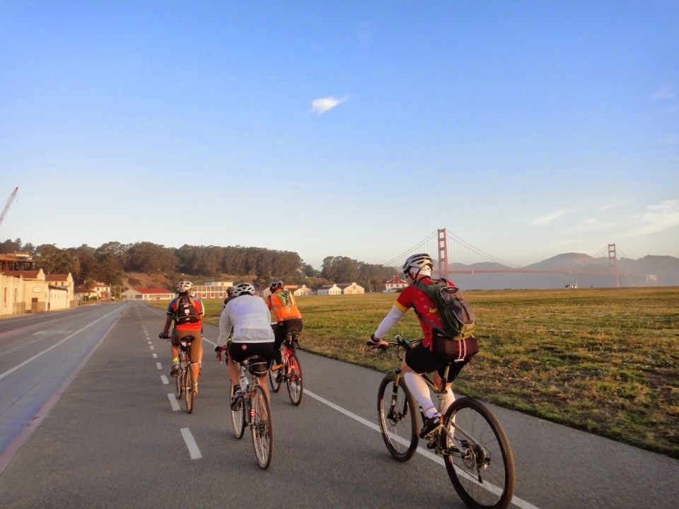 La Grand Depart from Crissy Field. Photo: M. Uz