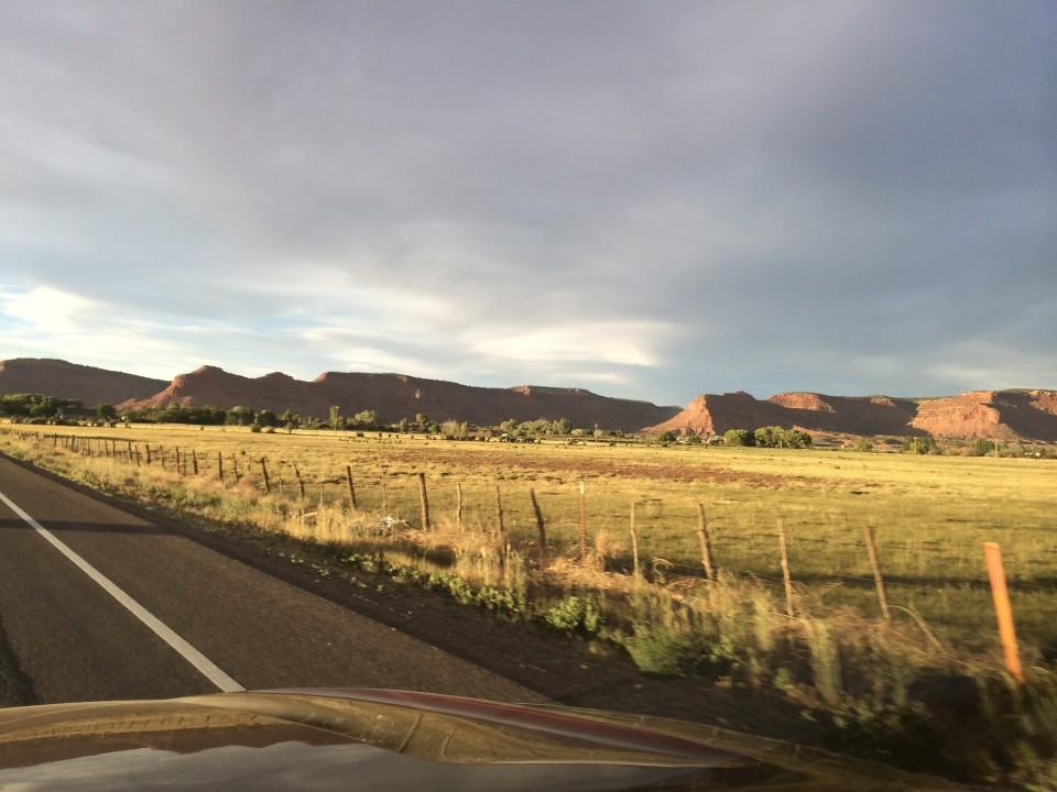 Approaching Kanab, Utah. 12 drive from Sacramento.