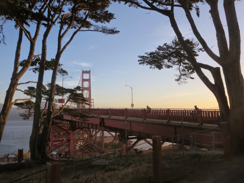 Randos outbound on the GGB. photo: B. Chun