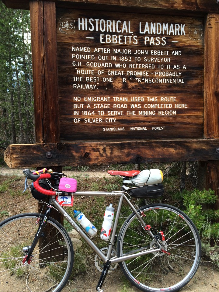 the DeSalvo on top of Ebbetts. The red tag came from France for the ride. The red Rivet came from my office!