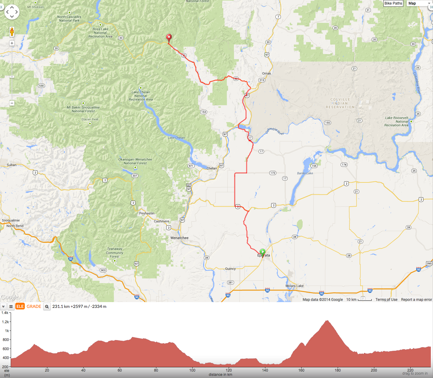 Day 3 - Ephrata to Mazama
