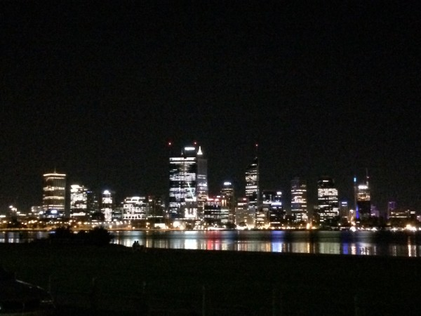 Evening view from the apartment. Perth at night. Photo: Banks