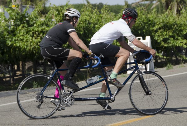 Willy & I out on his tandem. photo: Deb Ford