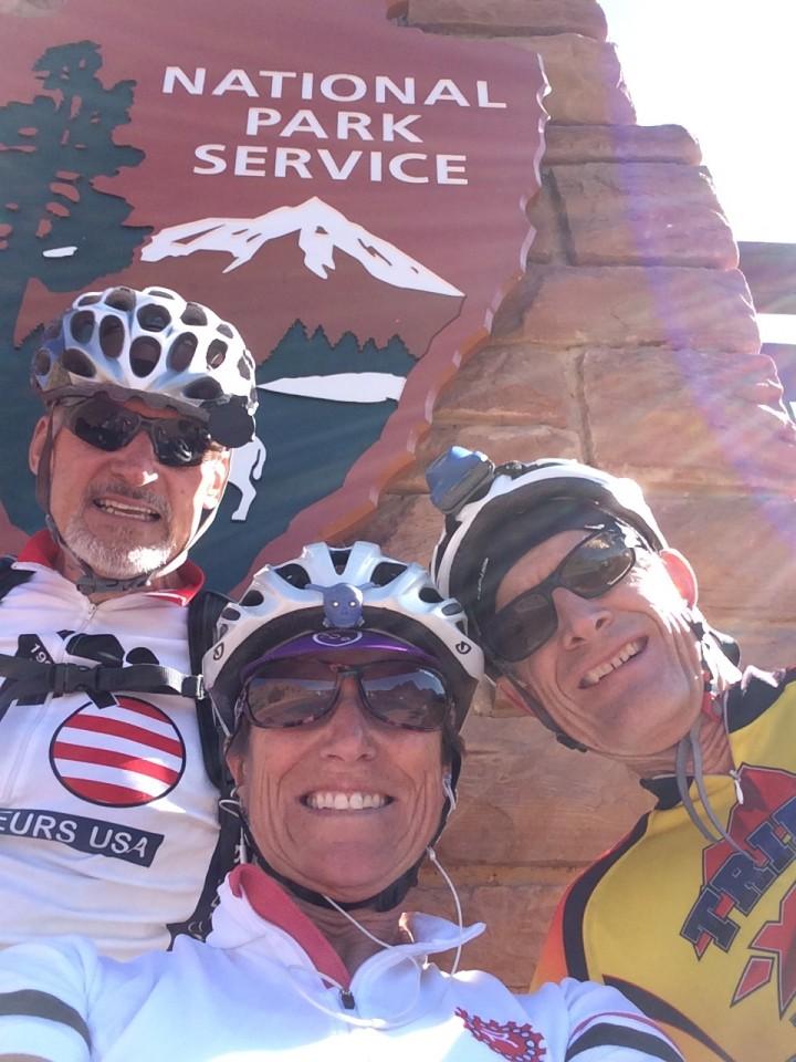 We three at Zion NP.