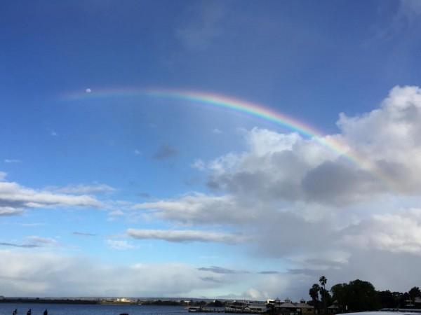 Rainbow to the moon. photo: M. Thomas