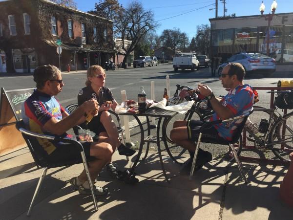 Lunch in Kelseyville before the sh%t hit the fan.