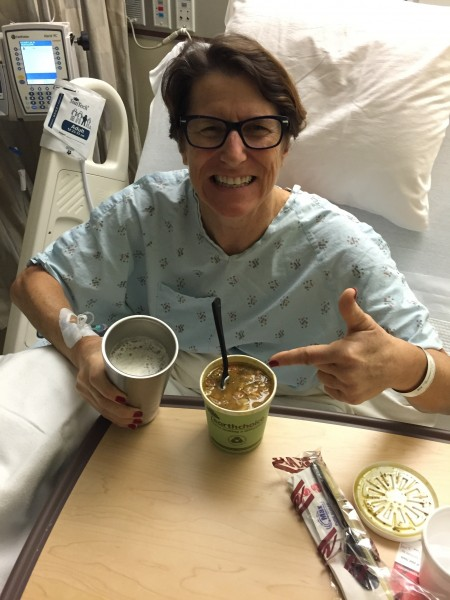 Post operation. Dos green chile and a Lagunitas! Thank you Fordie!
