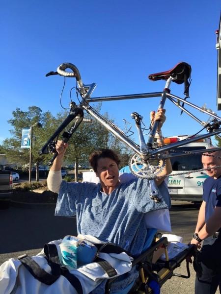 The Soma heads to Steve Rex's, I head to the hospital in Sacramento. Ambulance ride # 2. photo by: Sherry Mack