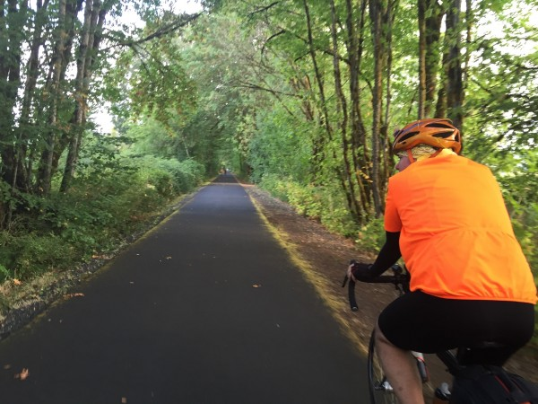 Norm cruising on the path towards Birkenfield. My first 200k post crash.