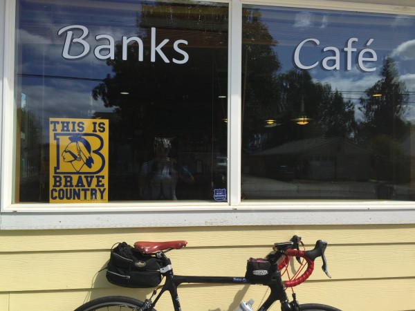 The lovely Banks Cafe, in Banks, OR.