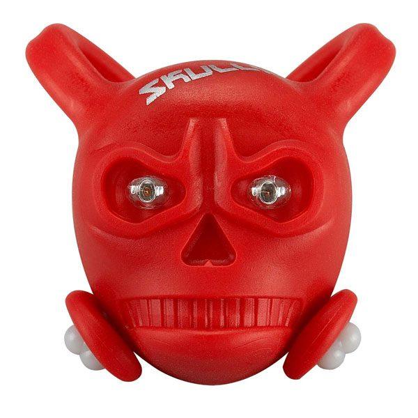 2 x Red LED/'s Purple SKULLY Skull LED Front//Rear Detachable Light